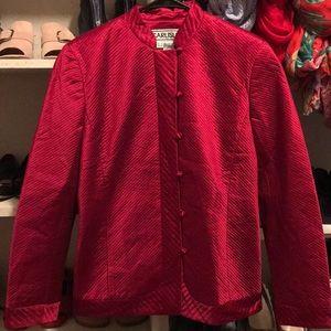 carlisle 100%silk red jacket 4